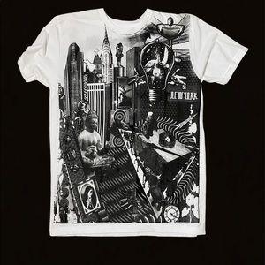 Prince Peter Collection b&w Graphic Collage Tshirt